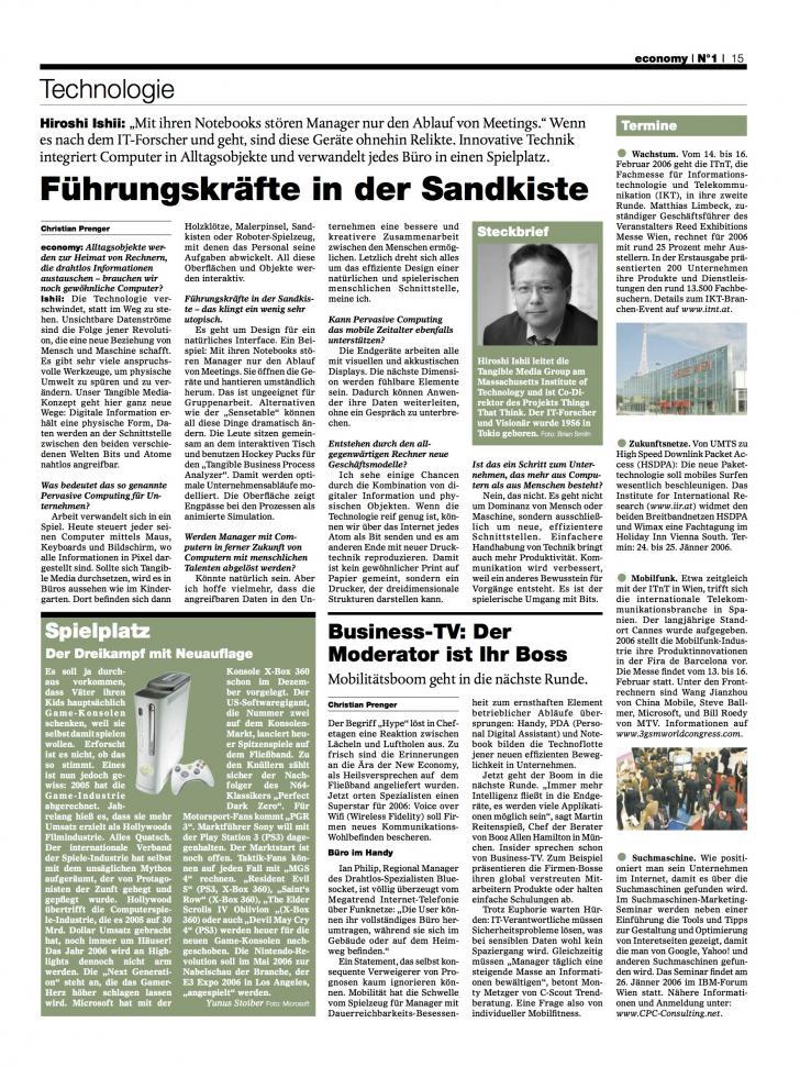 Heft Ausgabe Nr. 01 - Seite 15