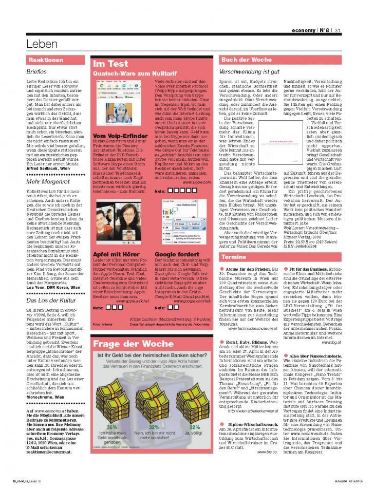 Heft Ausgabe Nr. 08 - Seite 31