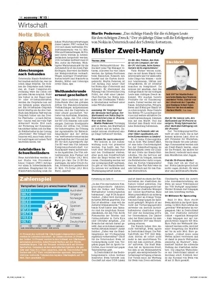 Heft Ausgabe Nr. 15 - Seite 14