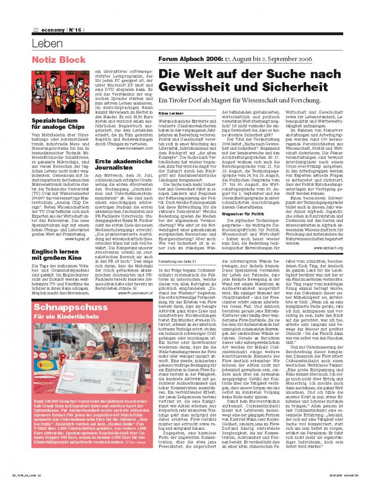 Heft Ausgabe Nr. 16 - Seite 22