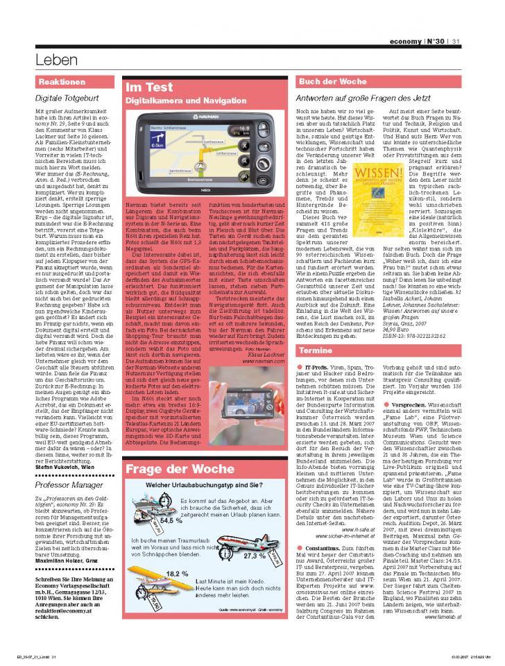 Heft Ausgabe Nr. 30 - Seite 31