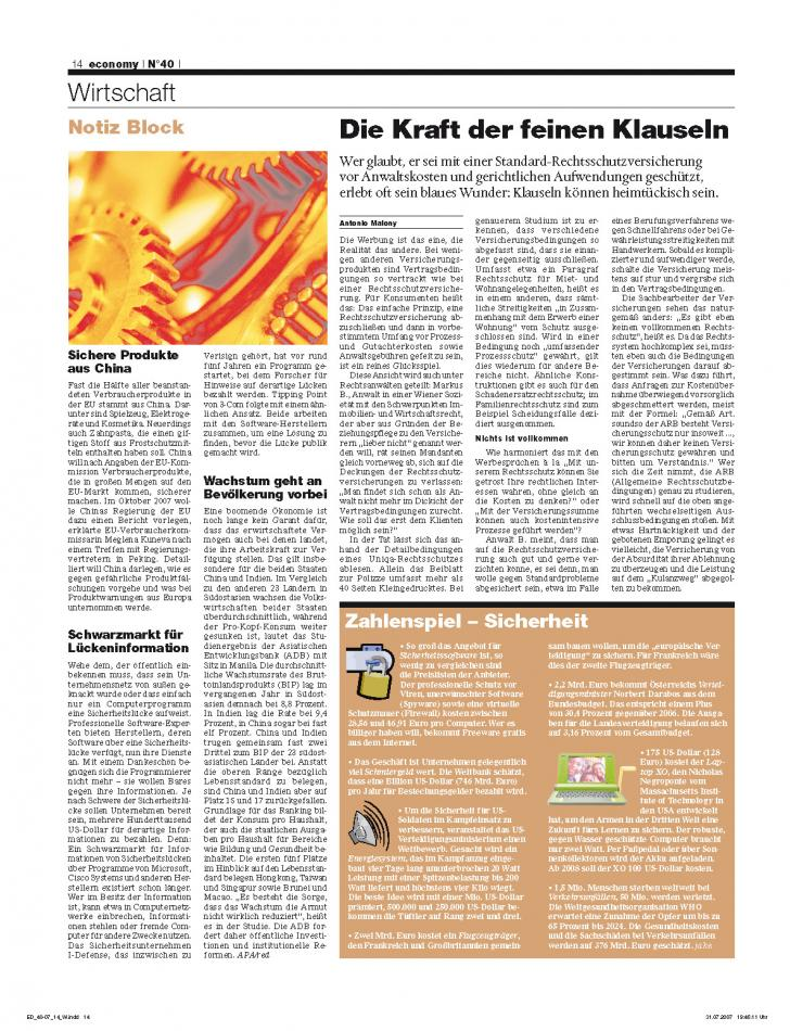 Heft Ausgabe Nr. 40 - Seite 14