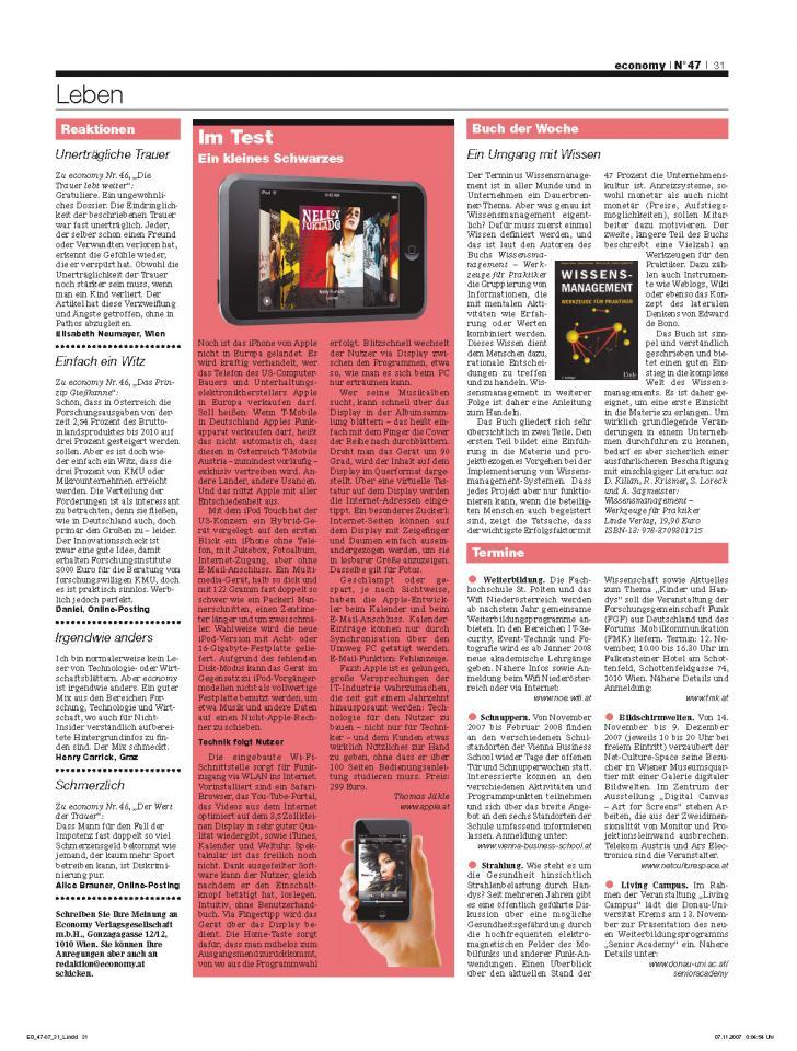 Heft Ausgabe Nr. 47 - Seite 31