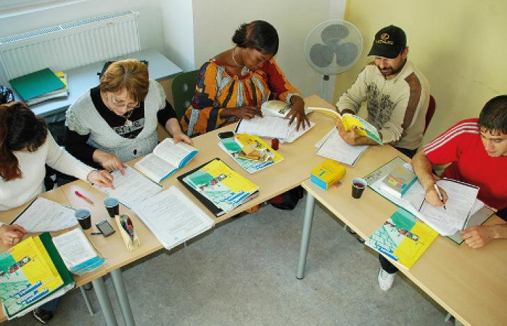 Fleckerlteppich für Flüchtlinge