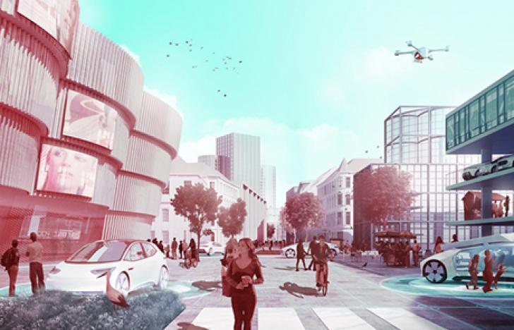 Die Autos der Zukunft für die Stadt der Zukunft